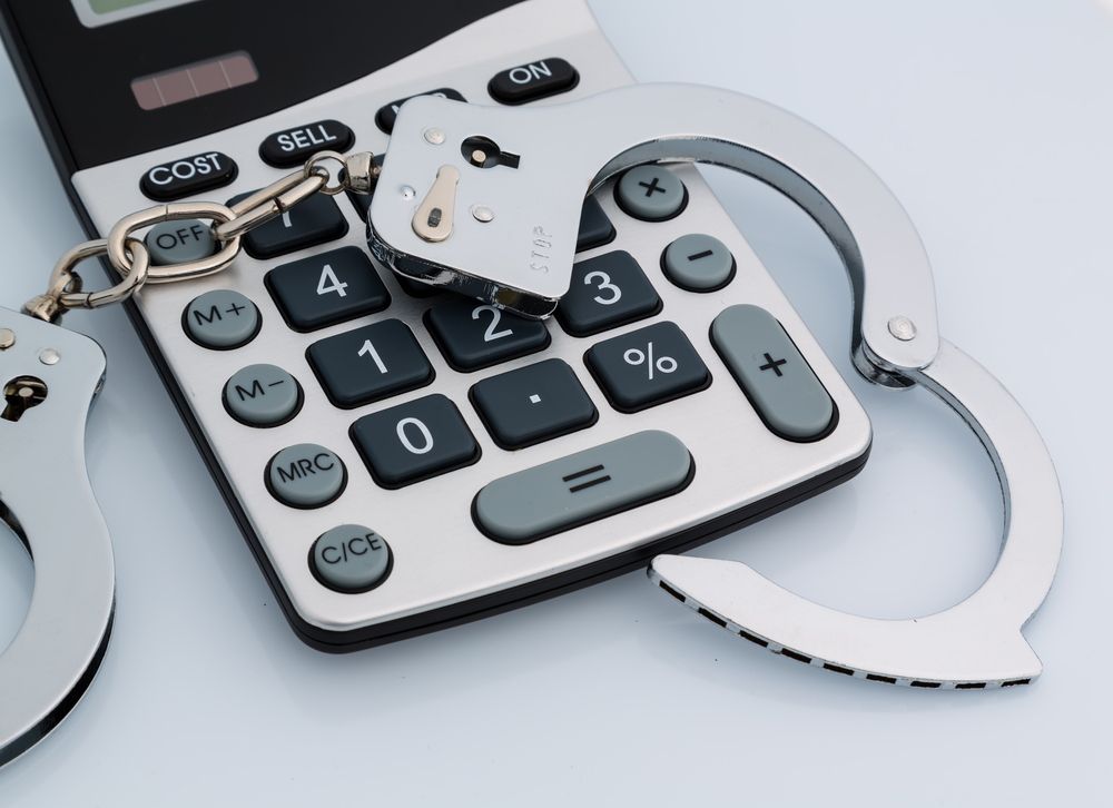 calculator handcuffs